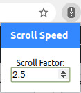 Chrome scroll speed